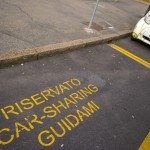 Reserved car-sharing parking in Milan, Italy. Source: Shutterstock.com