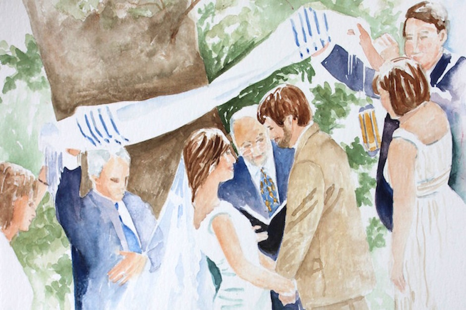 Your painting can capture a special moment during your ceremony.