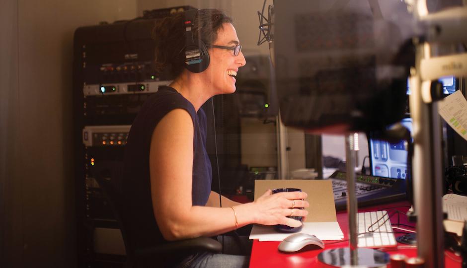 Serial creator/host Sarah Koenig in the studio.