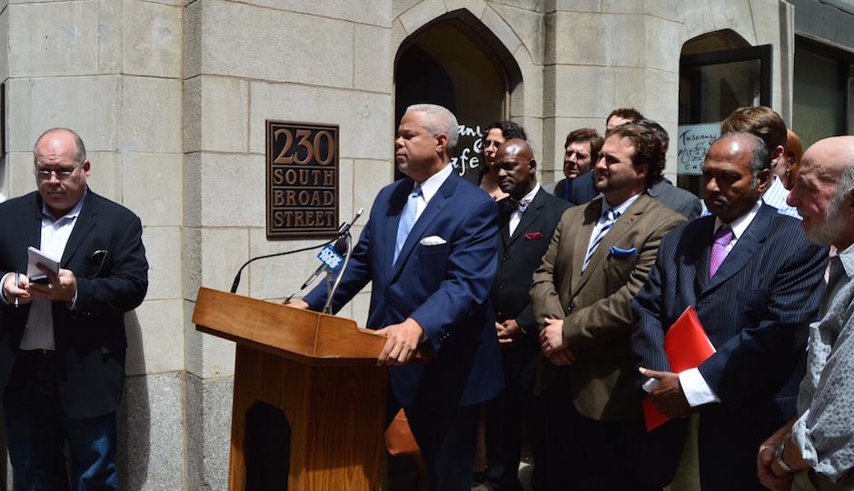 Senator Anthony Hardy Williams at today's press conference | Photo: James Jennings