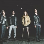 From left to right, Halestorm members: Arejay Hale, Josh Smith, Lzzy Hale and Joe Hottinger.