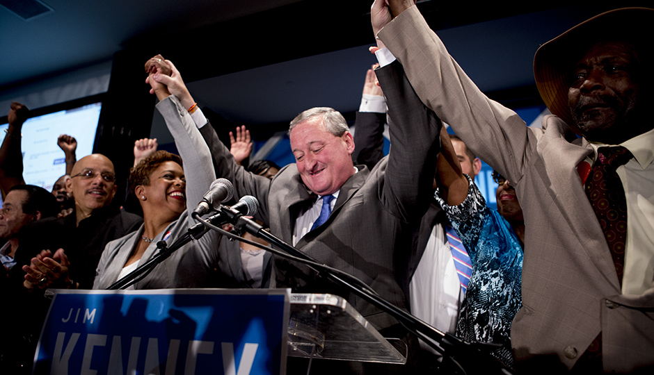 The victorious Jim Kenney on Election Day| Photo by Jeff Fusco
