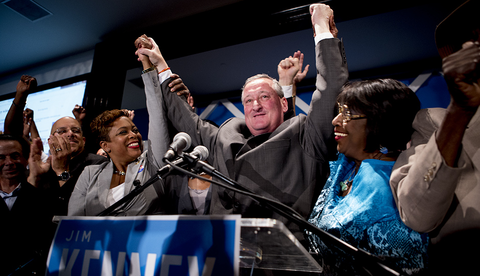Jim Kenney accepts the Democratic nomination for mayor. | Photo by Jeff Fusco.