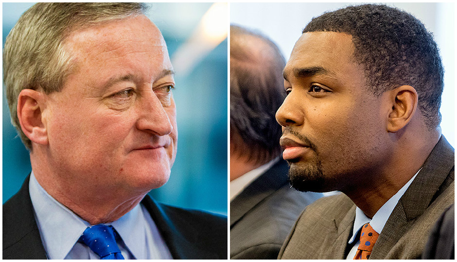 Jim Kenney and Doug Oliver. | Photo by Jeff Fusco.