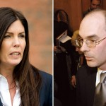 Kathleen Kane and Frank Fina.  (Kane: Matt Rourke/Associated Press; Fina: Jason Minick/Associated Press)