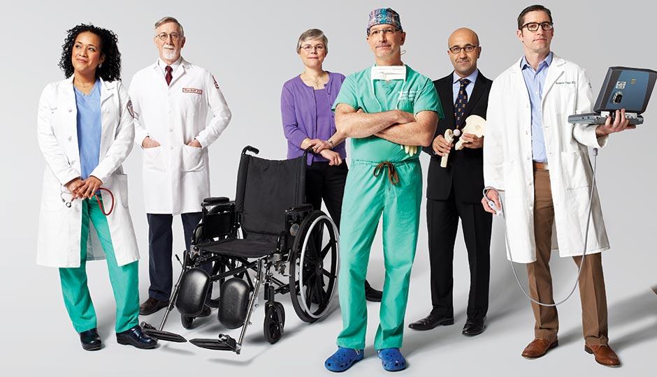 From left: Yanick Vibert, Rodger Barnette, Veronica Hache, Scott Kozin, Javad Parvizi, and Matt Fields. Photograph by Jonathan Pushnik