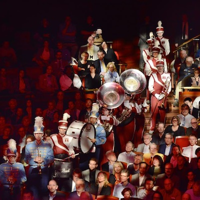 Members of the marching band during 'MASS.'