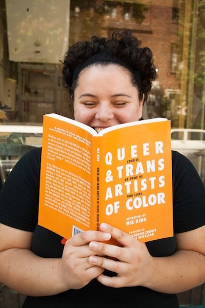 Arts activist Nia King hosts a reading in celebration of her new anthology at Big Blue Marble Bookstore on Saturday.