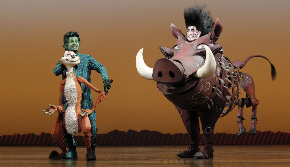 Nick Cordileone and Ben Lipitz in 'The Lion King.'