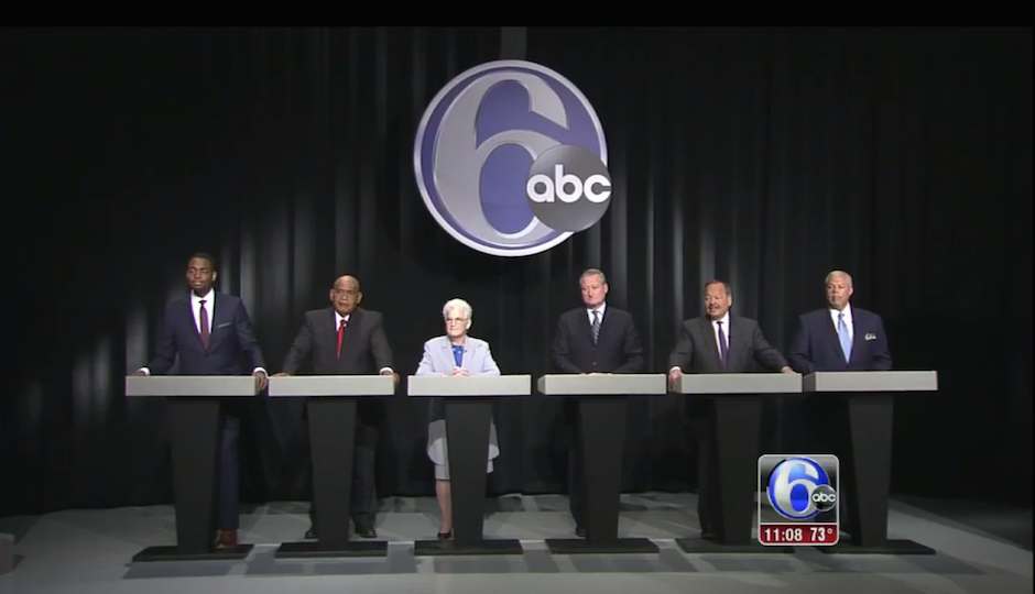Screen grab of 6ABC's mayoral debate