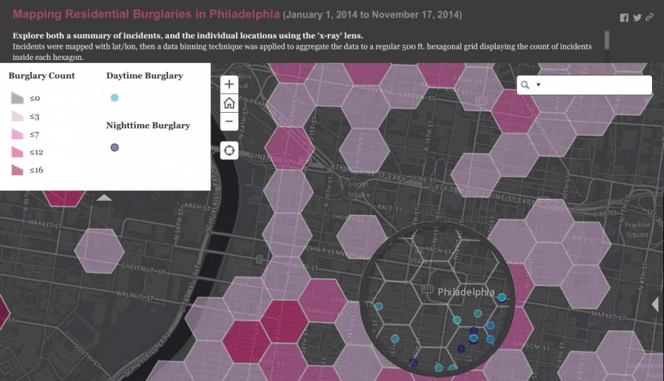 OpenDataPhilly's Residential Burglary Map
