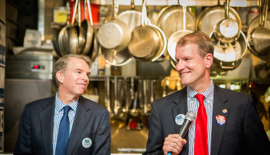 Paul Steine (R) and his partner David Ade. | Photo by JPG Photography