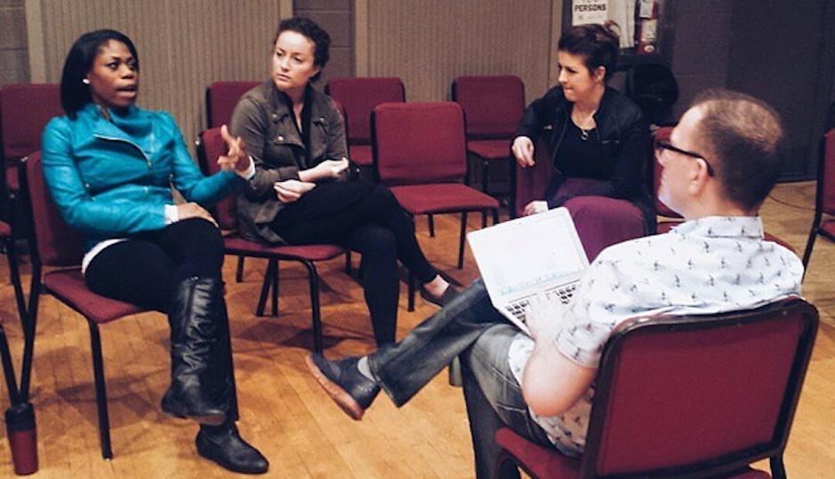From left: Chrystal Williams, Rachel Sterrenberg, Angela Mortellaro, and the author.