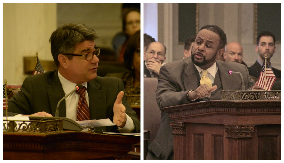 From L to R: Council members Bobby Henon and Curtis Jones, Jr.   Photo courtesy of City Council's Flickr