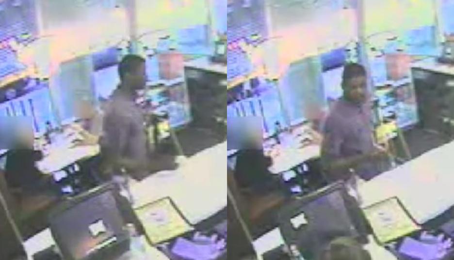 Suspect in the Darling's Diner assault in Northern Liberties via surveillance cameras