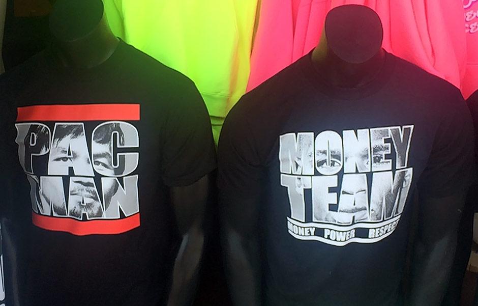 Pacquiao and Mayweather shirts