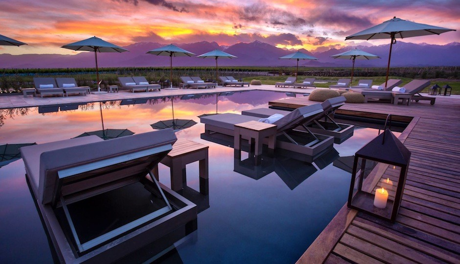 We'd like to spend a night lounging at this resort in Argentina. Facebook.com/vinesofmendoza.