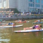 Sup Yoga at Spruce Street Harbor Park 2014 | Photo via Facebook