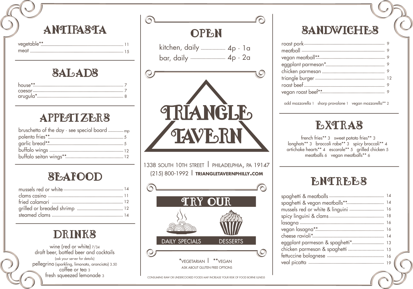 triangle-tavern-Placemat-Menu