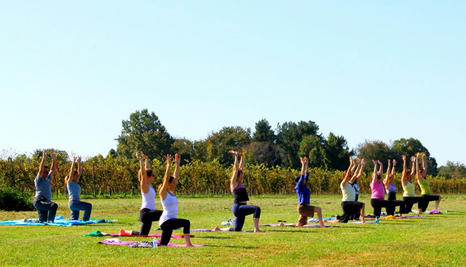 Outdoor Yoga in Philadelphia | Outdoor yoga at Penns Woods Winery