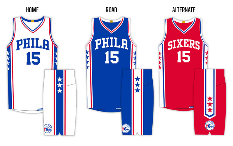 09bbbeba319 Sixers Unveil New Jerseys