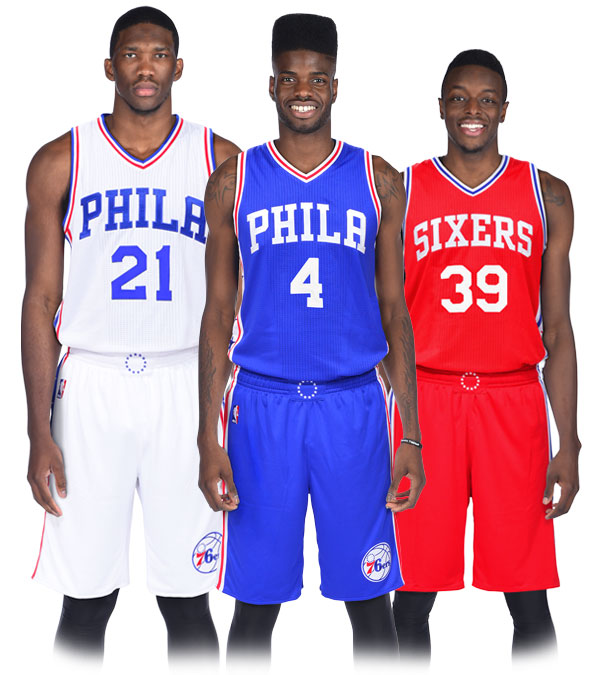 805a7a17b9d New Sixers jerseys. Image via Philadelphia 76ers