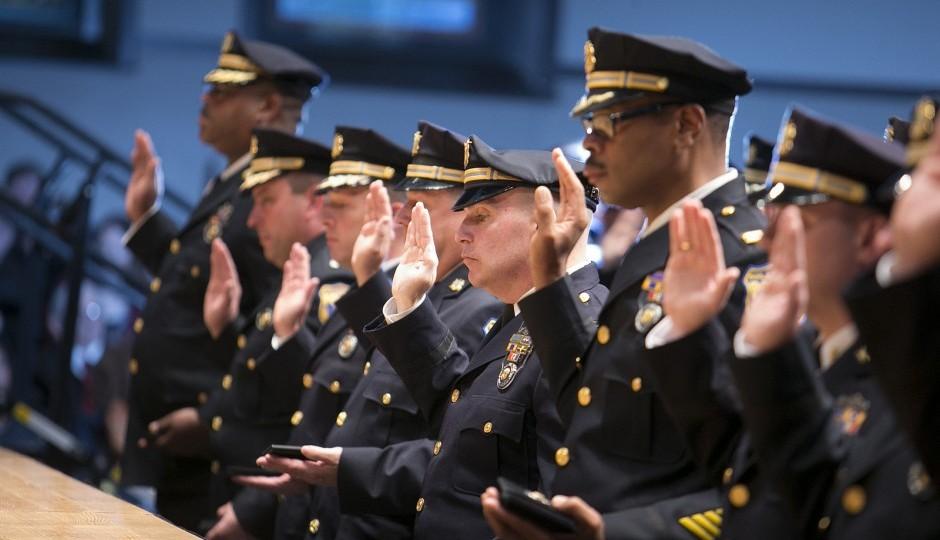 A Philadelphia Police Department promotion ceremony. | Photo by Mitchell Leff/City of Philadelphia
