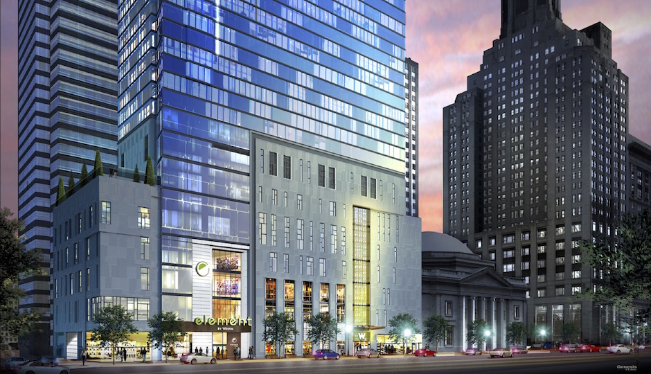 Construction Of W Element Hotel At 15th And Chestnut Underway Philadelphia Magazine