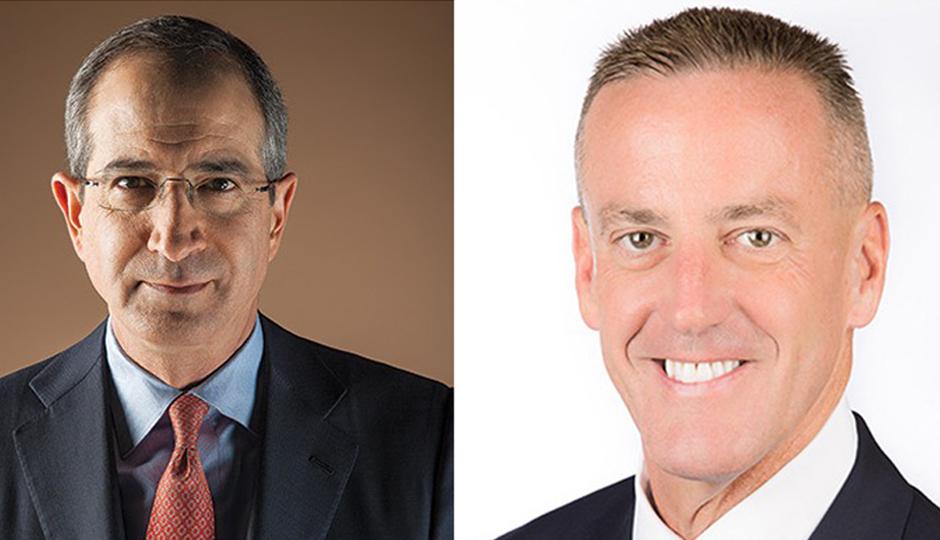 Comcast CEO Brian Roberts (left) and Aramark CEO Eric Foss.