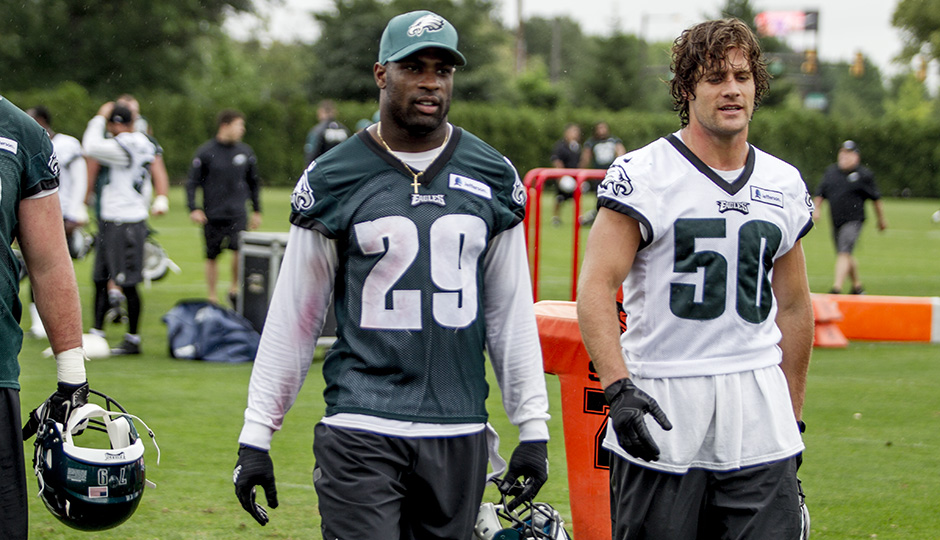 DeMarco Murray and Kiko Alonso. (Jeff Fusco)