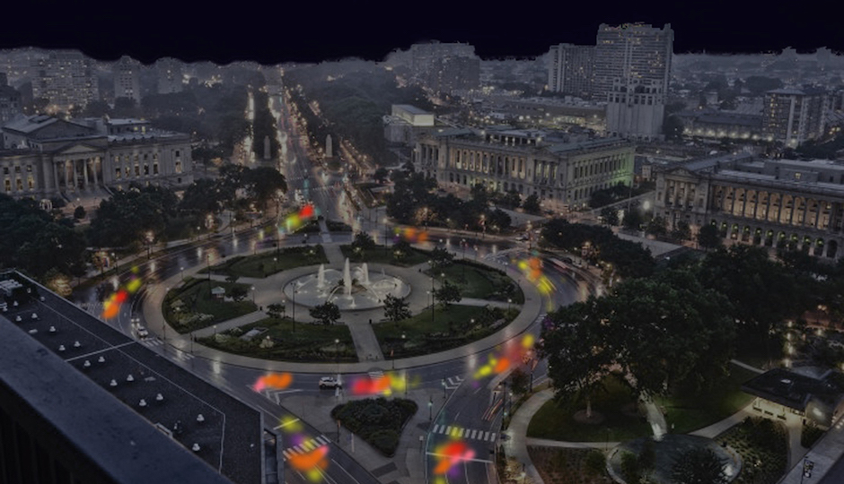 "Digital rendering of ""Fireflies"" on the Parkway, courtesy of Cai Studio."