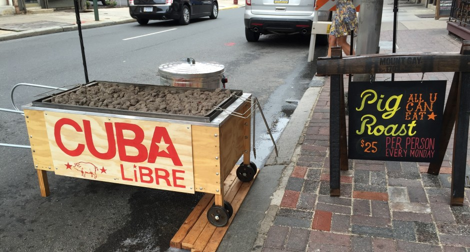 Whole pig roast at Cuba Libre.