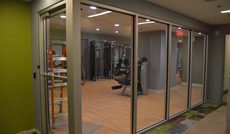Here's the fitness center at the Avenir.   Photos: James Jennings