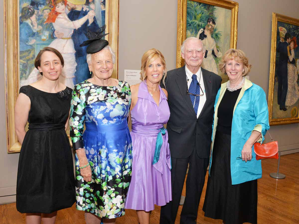"From left: Jennifer Thompson, Curator, Philadelphia Museum of Art; Hannah Henderson, Trustee Emeritus, Board of Trustees, Philadelphia Museum of Art; Sally Sharkey; H. F. ""Gerry"" Lenfest, Chair Trustee of the Philadelphia Museum of Art; and Gail Harrity, appointed President and COO of the Philadelphia Museum of Art"
