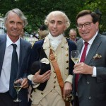 From left: Benedict Donnelly, Président de l'Association Hermione Lafayette; Le Marquis de Lafayette, played by first-person interpreter Benjamin Goldman, who brings his role to life; and André Liébot, President chez Groupe Liebot,
