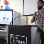 Dan Tobon, a veteran entrepreneur at the grand opening of The Bunker. (Comcast Photo/ Joseph Kaczmarek)