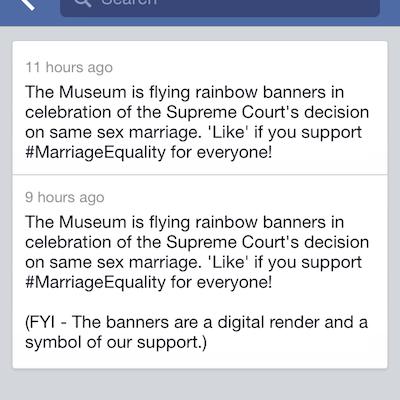 The original Facebook status, top, and the edited status, below.
