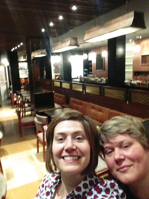 Restaurateurs Valerie Safran and Marcie Turney at their new restaurant, Bud & Marilyn's, May 4, 2015.