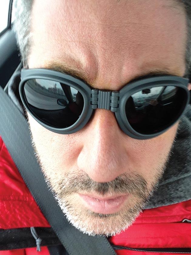 Chef/restaurateur Michael Solomonov after laser eye surgery, January 10, 2015.