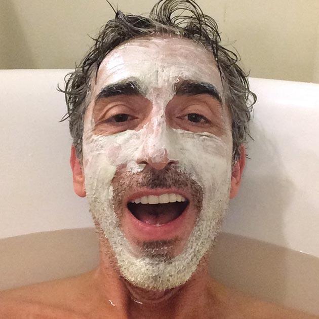 Duross & Langel co-owner Steve Duross in his bathtub, April 22, 2015.
