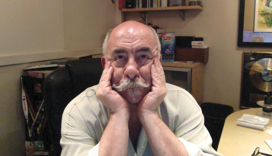 John DeBella in his home office waiting for his brother to FaceTime him, May 1, 2015.