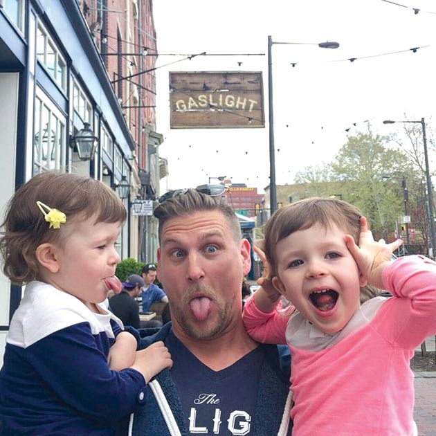 Jason Cichonski, the Gaslight and Ela, with his best friend's nieces Ella and Addison.