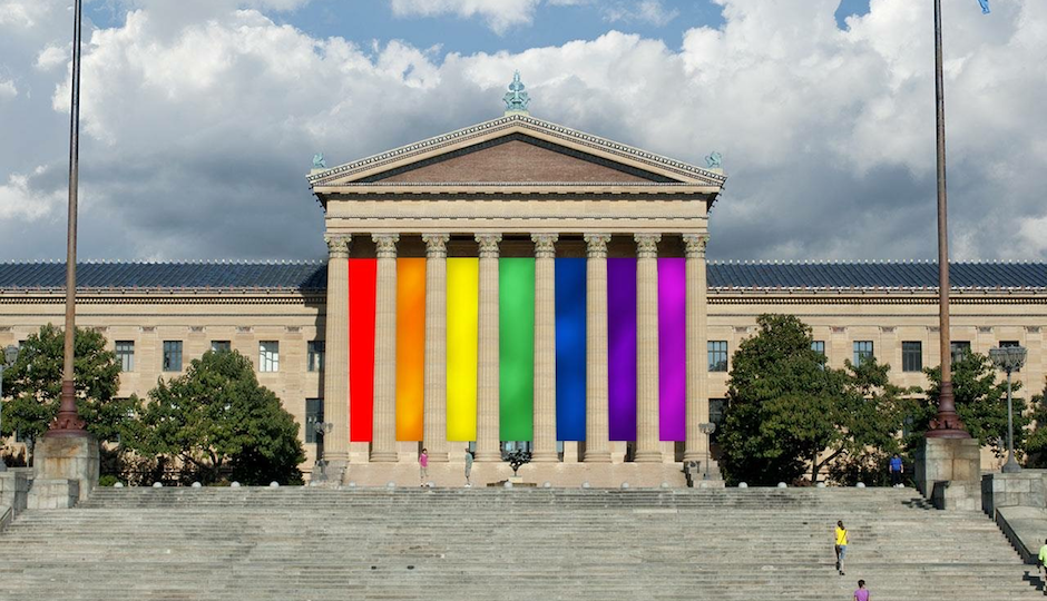 The doctored rainbow picture from the Museum's Facebook page.