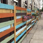 """The """"barrier"""" surrounding the William Street Common sidewalk cafe at 39th and Chestnut in University City. 