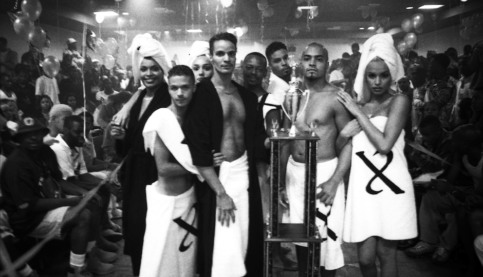 Members of the House of Xtravaganza at the Marc Ballroom in Manhattan, NY 1997, by Gaskin.