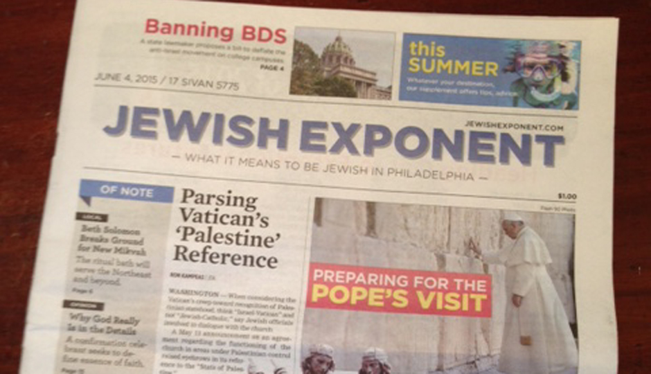 No, the Jewish Exponent is not dead.