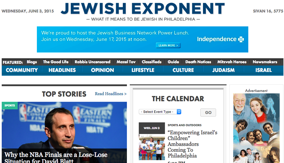 The Jewish Exponent is moving in a new editorial direction.