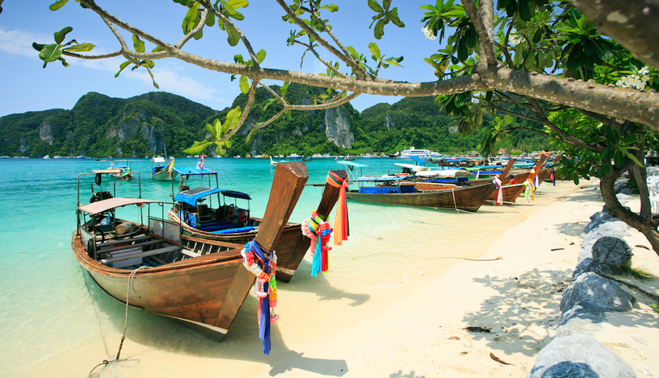 It's hard to argue with the idea of a honeymoon on Phi Phi island in Thailand. Photo | Shutterstock.