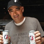 Todd Carmichael, CEO of La Colombe shows off his latest creation: Draft latte in a can. (Photo by Jared Shelly)