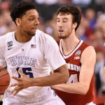 Apr 6, 2015 Duke Blue Devils center Jahlil Okafor (15) drives to the basket against Wisconsin on April 6, 2015 during the NCAA Men's Division I Championship game. | Robert Deutsch-USA TODAY Sports